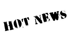 Hot News rubber stamp Royalty Free Stock Images
