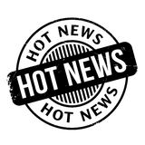Hot News rubber stamp Stock Photos