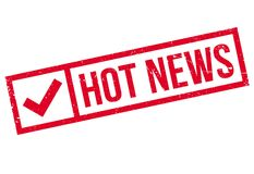 Hot News rubber stamp Royalty Free Stock Image