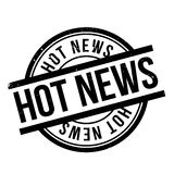 Hot News rubber stamp Royalty Free Stock Photos