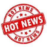 Hot news rubber stamp. Hot news rubber vector stamp Stock Photos