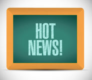 Hot news sign message illustration design Royalty Free Stock Images