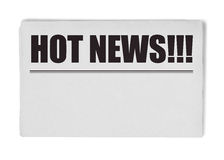 Hot news title on newspaper Royalty Free Stock Photography