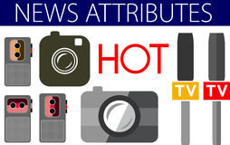 Hot news useful flat design icons Stock Photos