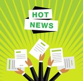 Hot news vector background Royalty Free Stock Photos