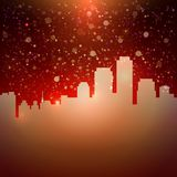Hot night city sky with stars background for your text Royalty Free Stock Photography