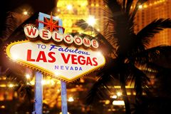 Hot Night in Las Vegas Royalty Free Stock Images
