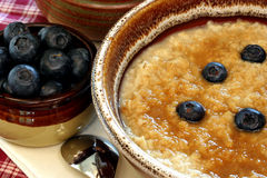 Hot Oatmeal Close Up Royalty Free Stock Photography