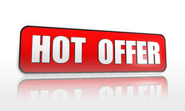 Hot offer banner Royalty Free Stock Photos