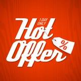 Hot Offer design template. Illustration Stock Images