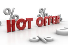 Hot offer and percentage Royalty Free Stock Photo