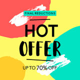 Hot Offer Sale Banner Royalty Free Stock Photo