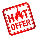 Hot offer stamp Royalty Free Stock Photos