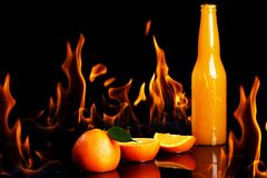 Hot orange drink Royalty Free Stock Photos