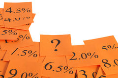 Hot Orange Interest Rate Border Stock Photo