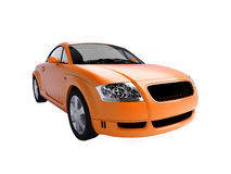 Hot-orange sportscar Stock Images