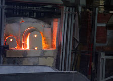 Hot oven of a glass factory Royalty Free Stock Image