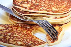 Hot pancakes Stock Image