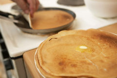 Hot pancakes with butter Royalty Free Stock Photography