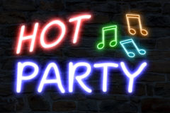 Hot party neon lights Stock Photo