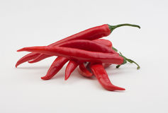 Hot pepper. Several pieces of bright colors Stock Image