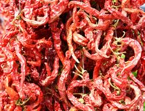 Hot pepper background Royalty Free Stock Photos