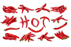 Hot pepper collection Stock Image