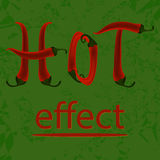 Hot pepper effect Stock Photos