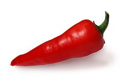 Hot pepper isolated on white stock photography