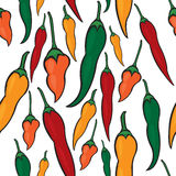 Hot pepper seamless pattern Stock Photography