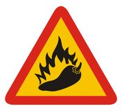 Hot pepper sign Royalty Free Stock Photo