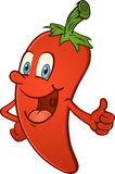 Hot Pepper Thumbs Up. A red hot chili pepper giving a thumbs up Royalty Free Stock Photos