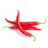 Hot pepper on a white background. Superb beautiful red hot pepper on a white background Stock Photo