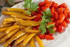 Hot pepperoni Stock Photography