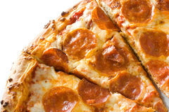 Hot pepperoni pizza Royalty Free Stock Images
