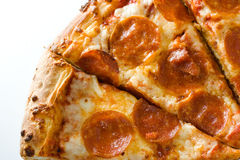 Hot pepperoni pizza Stock Photo