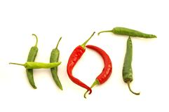 'HOT' Peppers Stock Photography