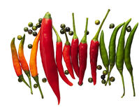 Hot peppers, chili, spices Royalty Free Stock Photography