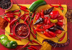 Hot Peppers Stock Image