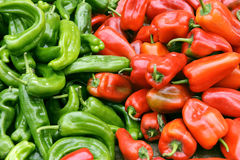 Hot peppers on market Royalty Free Stock Photos