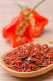 Hot peppers and paprika Stock Photo