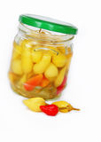 Hot peppers preserves Stock Photography