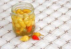 Hot peppers preserves Royalty Free Stock Photo