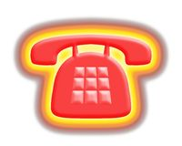 Hot phone royalty free illustration