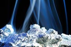 hot piece of zinc and smoke Stock Photos