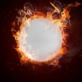 Hot ping-pong ball Royalty Free Stock Photography