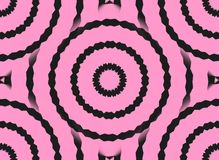 Hot Pink Black Swirls Royalty Free Stock Images