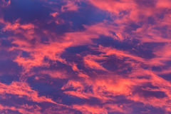 Hot Pink Clouds Royalty Free Stock Photos