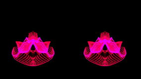 Hot pink dual abstract motion stock video footage