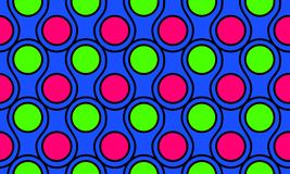 Hot Pink Fluo Green Circles Seamless Background Royalty Free Stock Photo